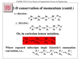 2-D conservation of momentum (contd.)
