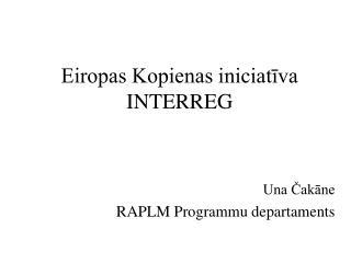 Eiropas Kopienas iniciatīva INTERREG