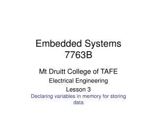 Embedded Systems 7763B