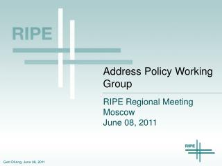 Address Policy Working Group
