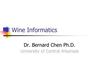 Wine Informatics