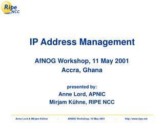 IP Address Management