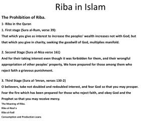 Riba in Islam