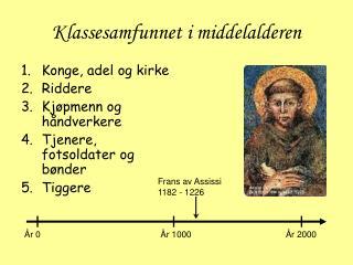 Klassesamfunnet i middelalderen
