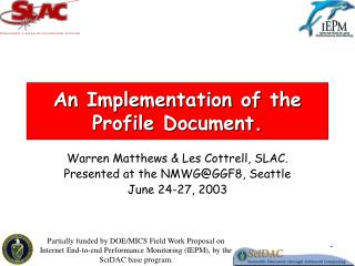An Implementation of the Profile Document.