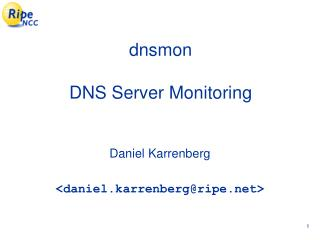 dnsmon DNS Server Monitoring