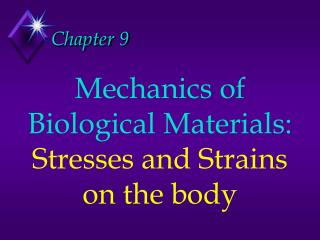 Mechanics of Biological Materials: Stresses and Strains on the body