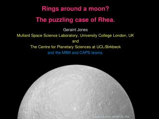 Rings around a moon?  The puzzling case of Rhea.