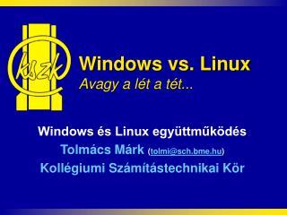 Windows vs. Linux Avagy a l�t a t�t...