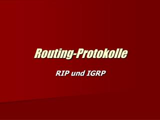 Routing-Protokolle
