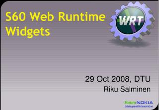 S60 Web Runtime Widgets