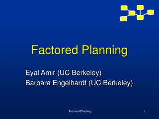 Factored Planning
