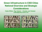 Green Infrastructure in CSO Cities National Overview and Strategic Considerations Clyde Wilber, Ray Hyland   Greeley and