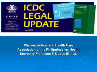 Pharmaceutical and Health Care Association of the Philippines vs. Health