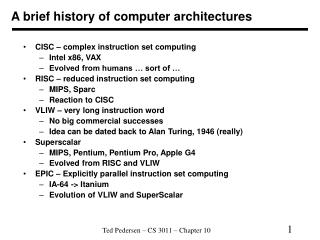 A brief history of computer architectures