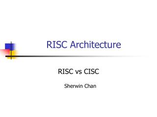 Ppt cisc risc powerpoint presentation id 471326 for Risc v architecture