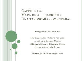 Capítulo 3.  Mapa de aplicaciones.  Una taxonomía comentada.