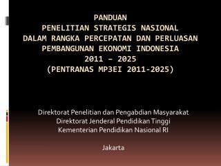 Direktorat Penelitian dan Pengabdian Masyarakat Direktorat Jenderal Pendidikan Tinggi