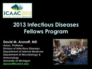 2013 Infectious Diseases Fellows Program