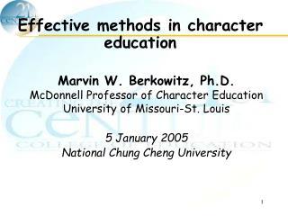 Effective methods in character education