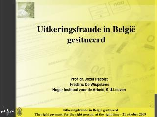 Uitkeringsfraude in België gesitueerd