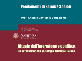 Fondamenti di Scienze Sociali
