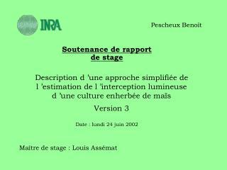 Soutenance de rapport de stage