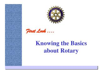 Knowing the Basics about Rotary