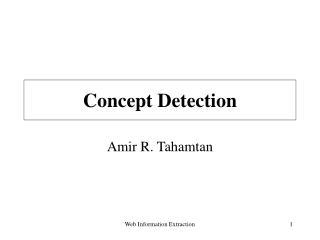Concept Detection