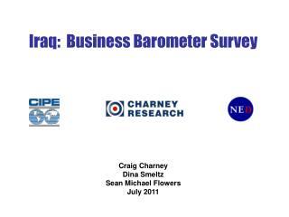 Iraq:  Business Barometer Survey