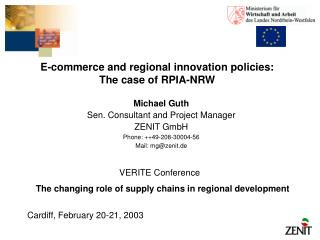 E-commerce and regional innovation policies: The case of RPIA-NRW