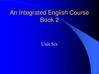 An Integrated English Course Book 2