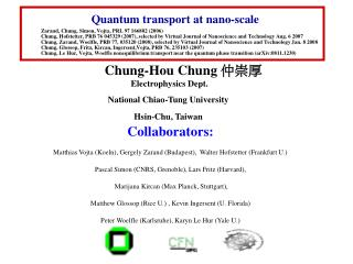 Quantum transport at nano-scale