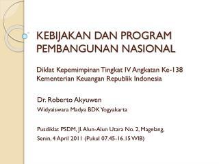 Dr. Roberto Akyuwen Widyaiswara Madya BDK Yogyakarta