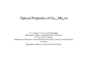 Optical Properties of Ga 1-x Mn x As