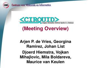 (Meeting Overview)