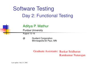Software Testing Day 2: Functional Testing