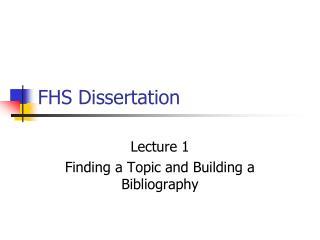FHS Dissertation