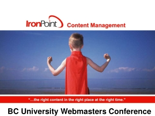 Web Content Management for the Enterprise Developer