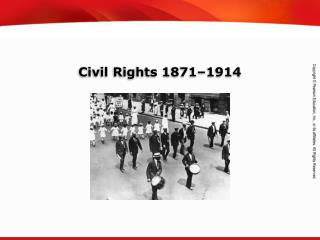 Civil Rights 1871–1914