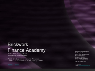 Brickwork Finance Academy: Bridging Campus To Corporate Gap.