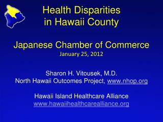 Health Disparities  in Hawaii County