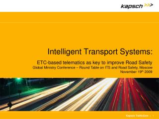 Intelligent Transport Systems: