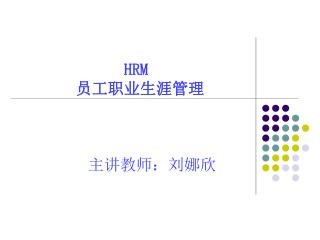 HRM 员工职业生涯管理