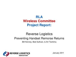 RLA Wireless Committee Project Report: