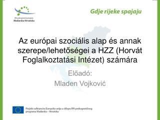El őadó : Mladen Vojković