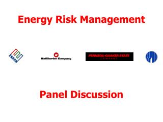 Energy Risk Management Panel Discussion