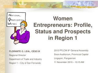 Women Entrepreneurs: Profile, Status and Prospects in Region 1