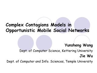 Complex Contagions Models in Opportunistic Mobile Social Networks