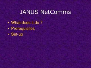 JANUS NetComms